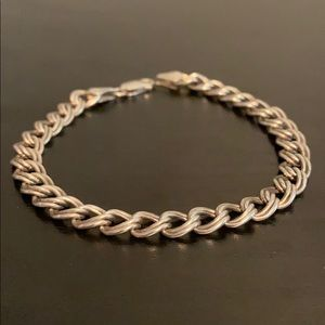 Double Wrapped 925 Sterling Silver Bracelet